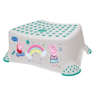 Peppa Pig Toddler Toilet Training Non Slip Secure Up Step Stool - Grey