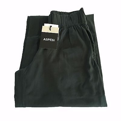 ASPESI women's trousers jersey charcoal cm base. 30 100% cotton MADE IN ITALY