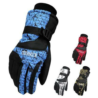 Outdoor Waterproof Ski Gloves Winter Windproof Warm Mittens for Skiing Cycling