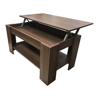 Redstone Coffee Table – Lift Up Top with Storage - Black White Beech Walnut