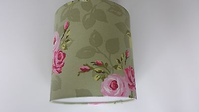 LAMPSHADE MADE FROM Clarke and Clarke  FABRIC(Nancy Rose sage ).