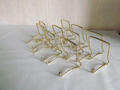 "10 Dual Purpose Display Stands holds 8"" plate or 6"" bowl.(Small Gold Coloured)"
