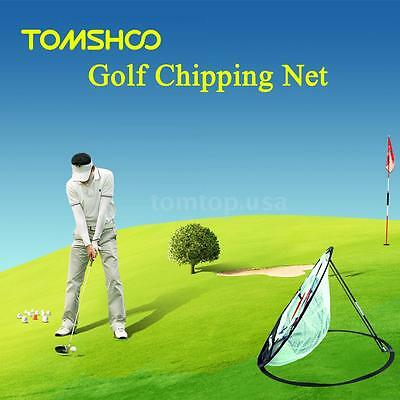 TOMSHOO Golf Training Chipping Net Hitting Aid Practice Indoor Outdoor Bag T3M1