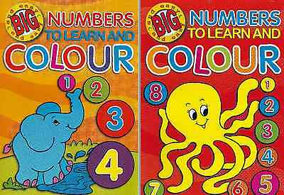 Learn Numbers Colouring Books - 2 Book Set - New