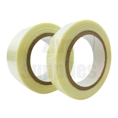 CROSSWEAVE TAPE Reinforced (25mm/50mm) for Packing Parcels Boxes Heavy Goods