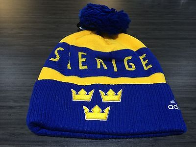 2016 World Cup of Hockey Team Sweden Pom Toque Beanie Cap Hat Winter Cuffed
