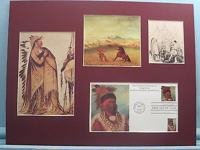 Famous Western Artist George Catlin & First Day Cover of his own stamp