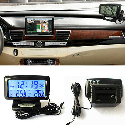 Car Auto Electronic Digital Clock Thermometer Temperature With Backlight