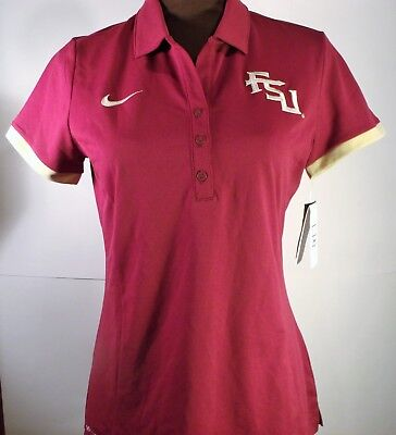 FLORIDA STATE SEMINOLE FSU NIKE WOMENS MAROON POLO NCAA College 747974 $60 NWT