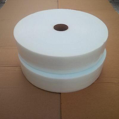 """2 Cohesive Foam Cushion 1/16""""x4""""x425', Wt, Self Pouch, 4 All Surface, Trboxtapes"""
