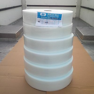 """6 Cohesive Foam Cushion 1/16""""x4""""x425', Wt, Self Pouch, 4 All Surface, Trboxtapes"""