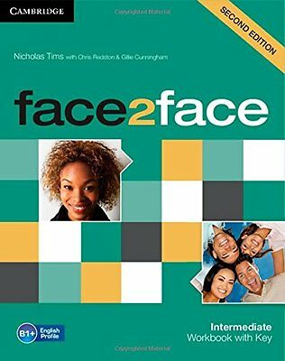 face2face Intermediate Workbook with Key, Tims, Nicholas, New condition, Book
