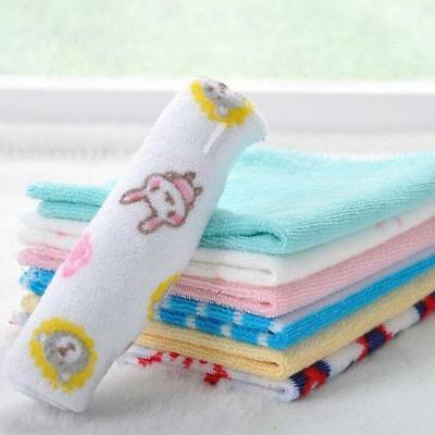 8pcs Baby Infants Comfort Face Washers Hand Towels Cotton Wipe Wash Cloth Gift B