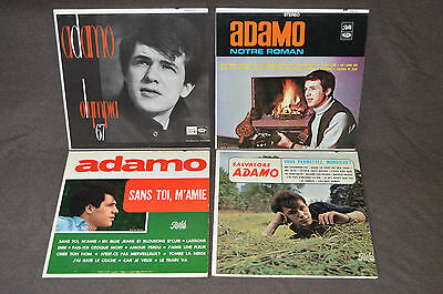 SALVATORE ADAMO 4 LP RECORD ALBUM LOT COLLECTION Sans Toi/Olympia 67/Notre Roman