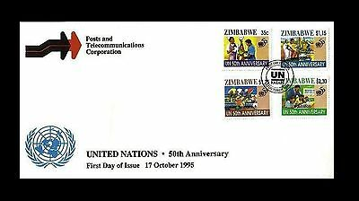 Zimbabwe 1995 The 50th Anniversary of United Nations FDC