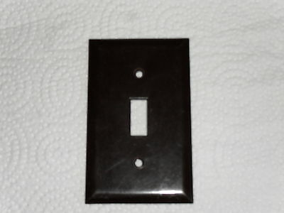 Vintage Leviton (Canada)  Dark Brown Smooth - Switch Cover Plate