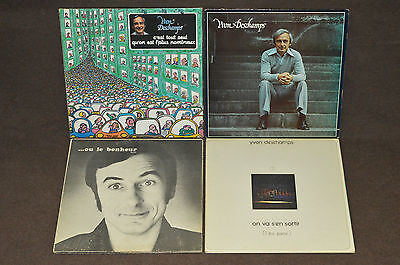 YVON DESCHAMPS 4 LP RECORD ALBUM LOT COLLECTION L'argent Ou Le Bonheur/Tout Seul