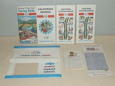 1968 Humble Touring Service Kit with Enco & Esso Maps & Enco Touring Guide-BL