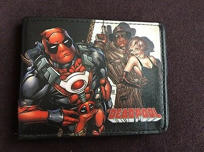 Marvel Deadpool Bi-Fold Wallet Pu Leather Free Ship From USA