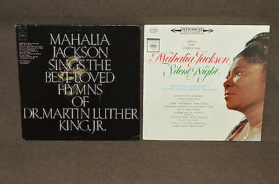 MAHALIA JACKSON 2 LP LOT VINYL ALBUMS COLLECTION Silent Night/Martin Luther King