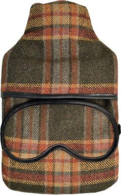 Vagabond Wollen Check Hot Water Bottle & Matching Eye Mask