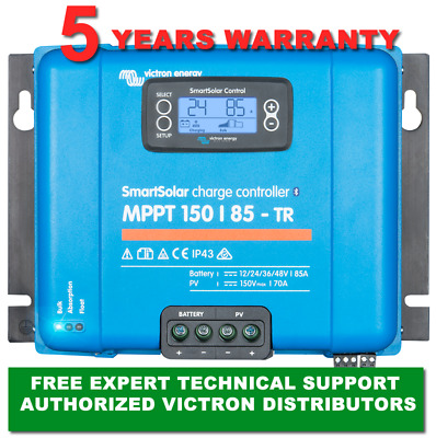 Victron Energy MPPT SmartSolar 85 Amp150V Solar Charger with LCD and Bluetooth
