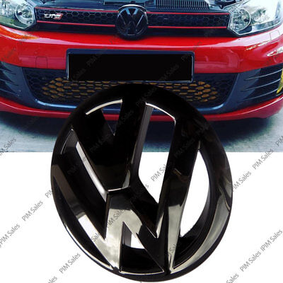 Volkswagen Golf VW Mk6 VI Front Black Badge Glossy Logo Emblem Bonnet 135mm