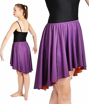 NWT Pumpers Purple Shiny Lycra Short Dancing Skirt Costume  Adult S