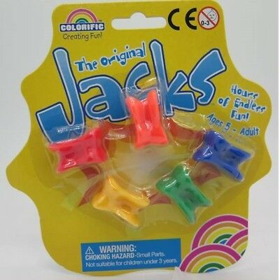 Colorific JACKS or KNUCKLEBONES - Traditional Family Fun Game 90616