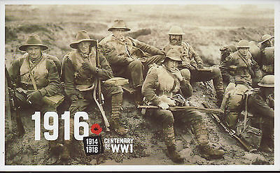 2016 1916 Centenary of WW1 Booklet, perfect condition.