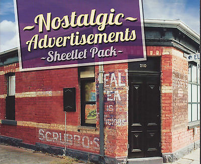 2015 Nostalgic Advertisements Sheetlets Pack, perfect condition.