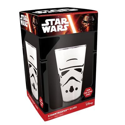 Official Star Wars Episode 7 VII Stormtrooper Design Drinking Glass - Boxed Gift