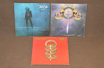 TOTO 3 LP LOT VINYL ALBUM COLLECTION Self-Title 1978/IV 1982/Hydra 1979 AOR ROCK