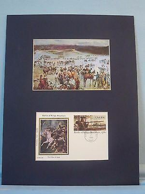 The Battle of Kings Mountain & First day Cover of its 200th Anniversary