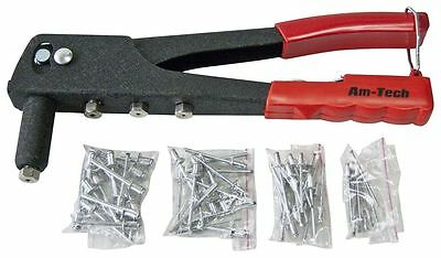 Rivet Gun With 60 Rivets 4 Heads Pvc Handle And Safety Catch