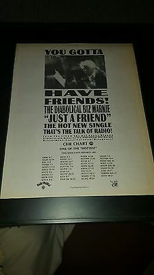 Biz Markie Just a Friend Rare Original Radio Promo Poster Ad Framed!