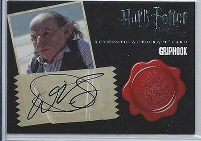 Harry Potter And The Deathly Hallows Part 2 Autograph Card Warwick Davis