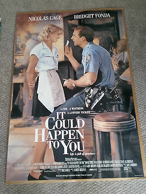 It Could Happen To You (1994) Original One Sheet Movie Poster 27x40 Nicolas Cage