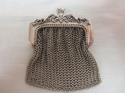 Vintage French Chatelaine Chain Mail Metal Coin Purse Circa 1930?