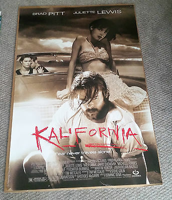 Kalifornia (1993) Original One Sheet Movie Poster 27x40 Brad Pitt Juliette Lewis