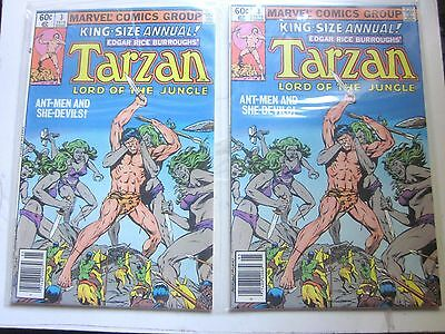 Lot of 6 HIGH GRADE TARZAN Lord of the Jungle #2-4, Ann #2 (2), 3 (Marvel/1977)