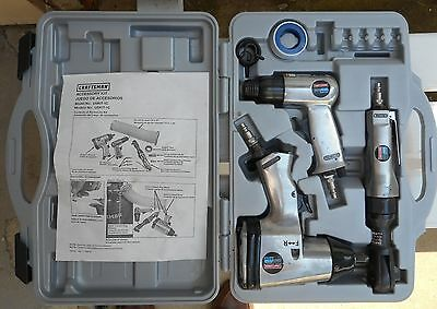 Craftsman Compressed Air Tool Kit USKIT-1C Impact & Ratchet Wrench & Air Hammer