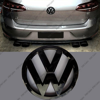 Volkswagen Golf VW Mk7 VII Rear Black Badge Gloss Logo Emblem Boot Grill 110mm