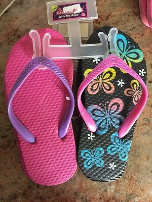 9ce21ad08  10 Chatties Youth Girl Dark Lavender Rubber Floral Accent Flip Flops L 2-3.   6.00 Buy It Now or Best Offer 14d 9h. See Details. CHATTIES GIRLS Set If  ...