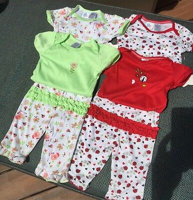 Coney Isle Casual 4 Bodysuit And One Pants For Girls , 3/6Month # 2