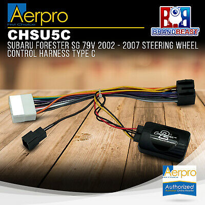 Aerpro Subaru Forester Sg 79v 2002 - 2007 Steering Wheel Control Harness Type C