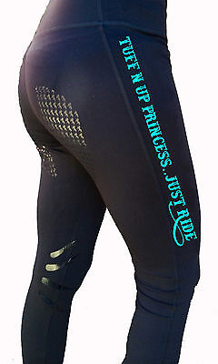 **heels Down Clothing** Riding Performance Tights* Tuff N Up Print..