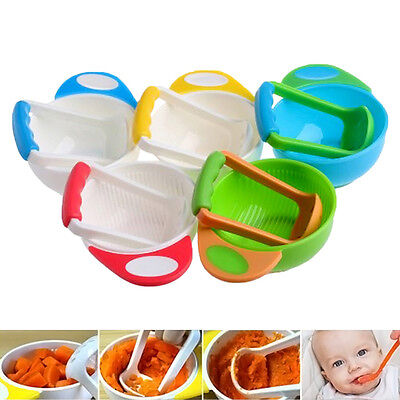 Manual Baby Infant Food Fruit Vegetable Grinder Bowl Mill Blender Masher Home