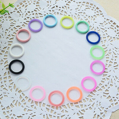 10x Colorful Silicone Safe Rubber for Baby Nipples Pacifier Holder Clip Ring Set