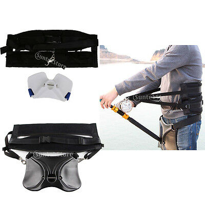 Offshore Stand Up Sea Fishing Fighting Waist Belt Rod Holder Gimbal Harness Gear